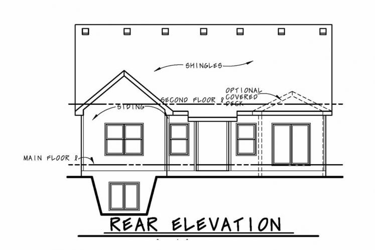 Cottage House Plan - Telluride Gable 80041 - Rear Exterior