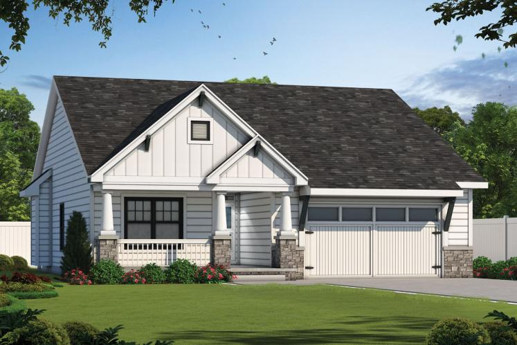 Farmhouse House Plan - Telluride Gable 80041 - Front Exterior