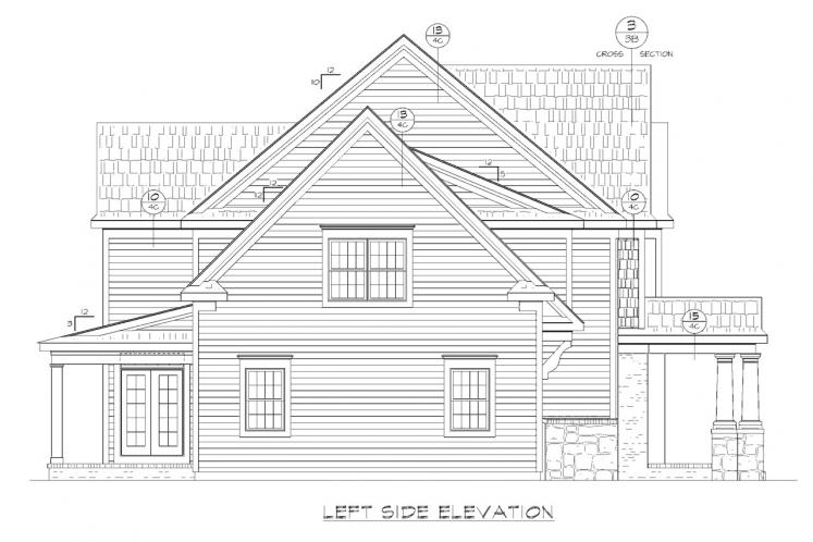 Traditional House Plan - Juliet 80115 - Left Exterior