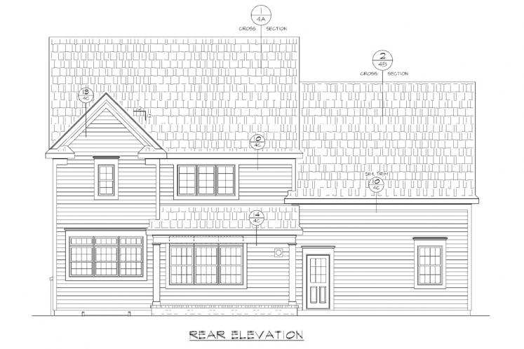 Country House Plan - Juliet 80115 - Rear Exterior