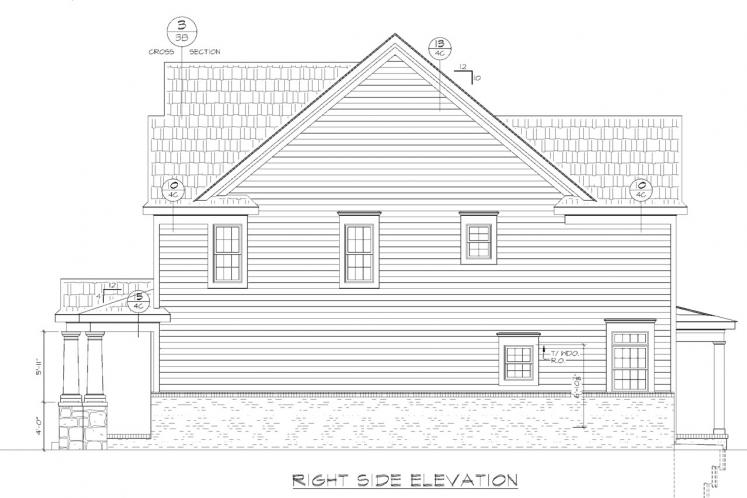 Country House Plan - Juliet 80115 - Right Exterior