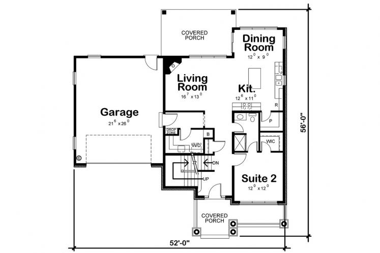 Traditional House Plan - Juliet 80115 - 1st Floor Plan