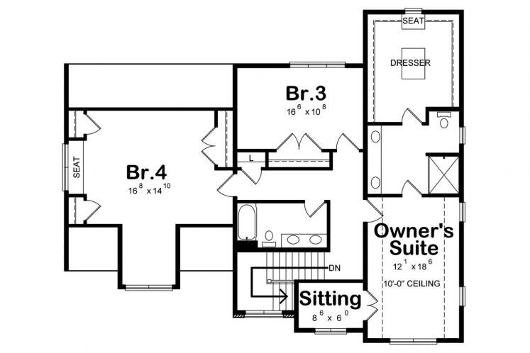 Country House Plan - Juliet 80115 - 2nd Floor Plan