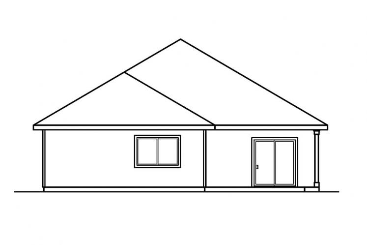 Traditional House Plan - Holbrook 80128 - Rear Exterior