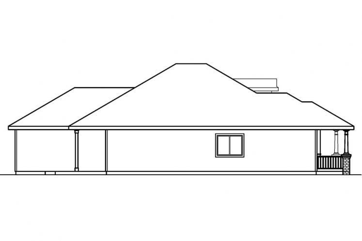 Country House Plan - Holbrook 80128 - Left Exterior