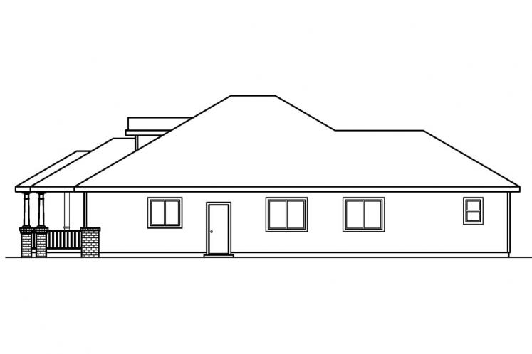 Traditional House Plan - Holbrook 80128 - Right Exterior