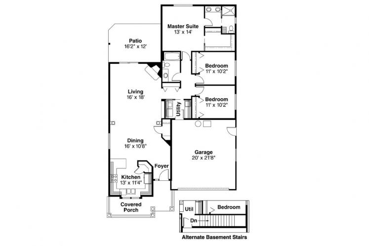Country House Plan - Holbrook 80128 - 1st Floor Plan