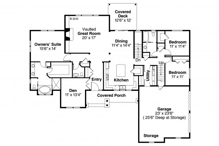 Country House Plan - Manor Heart 80138 - 1st Floor Plan