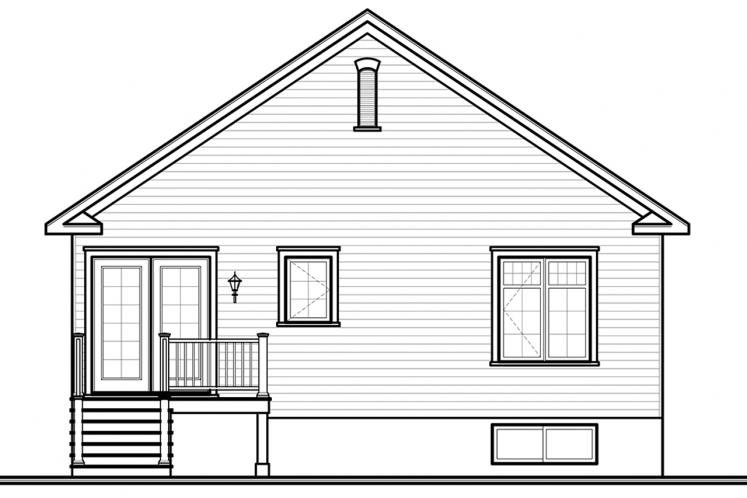 Country House Plan - Larkspur 80157 - Rear Exterior