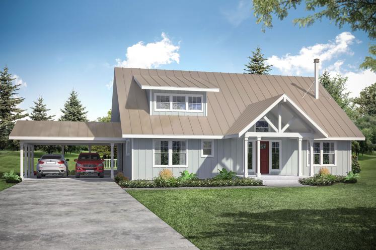 Lodge Style House Plan - Laverne 80181 - Front Exterior