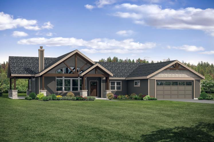 Country House Plan - Multnomah 80223 - Front Exterior
