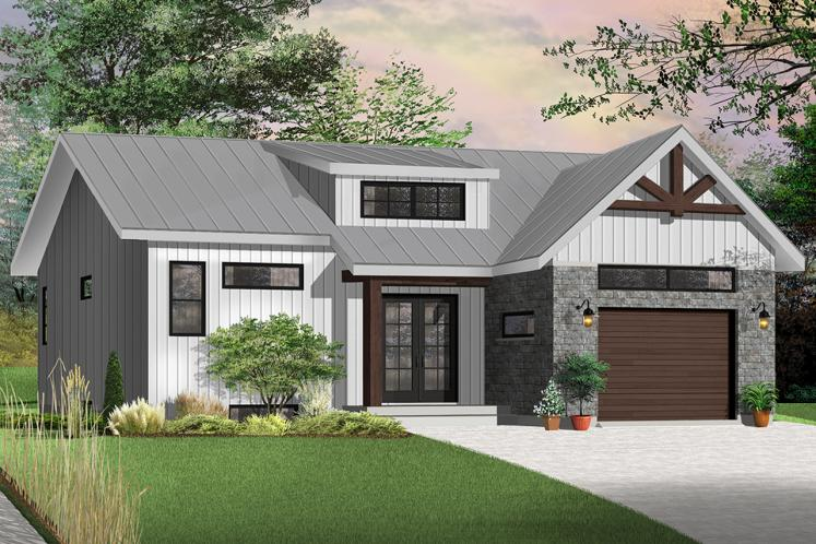 Country House Plan - Urban Valley 2 80235 - Front Exterior