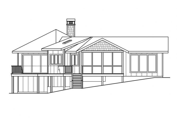 Ranch House Plan - Edgewater 80298 - Left Exterior