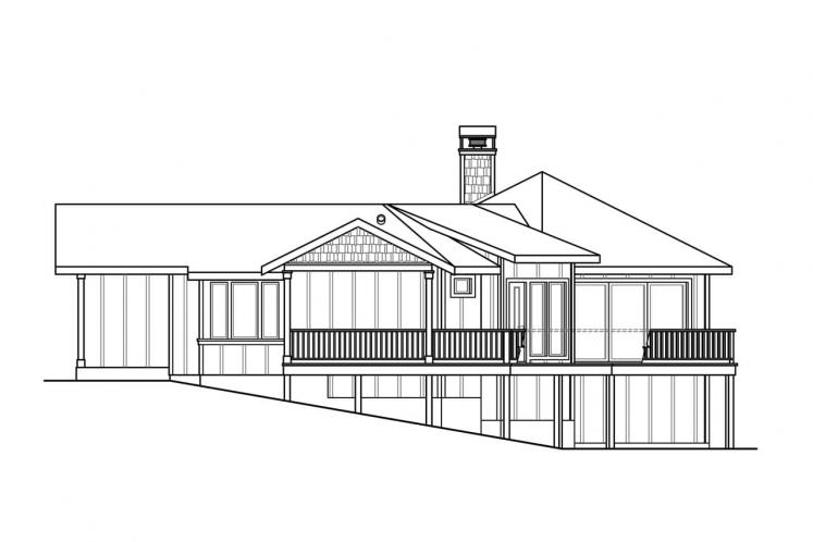 Prairie House Plan - Edgewater 80298 - Right Exterior