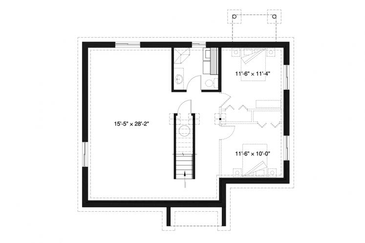 Modern House Plan - Barrington 80299 - Basement Floor Plan