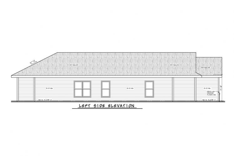 Traditional House Plan - Hillary Gable 80359 - Left Exterior