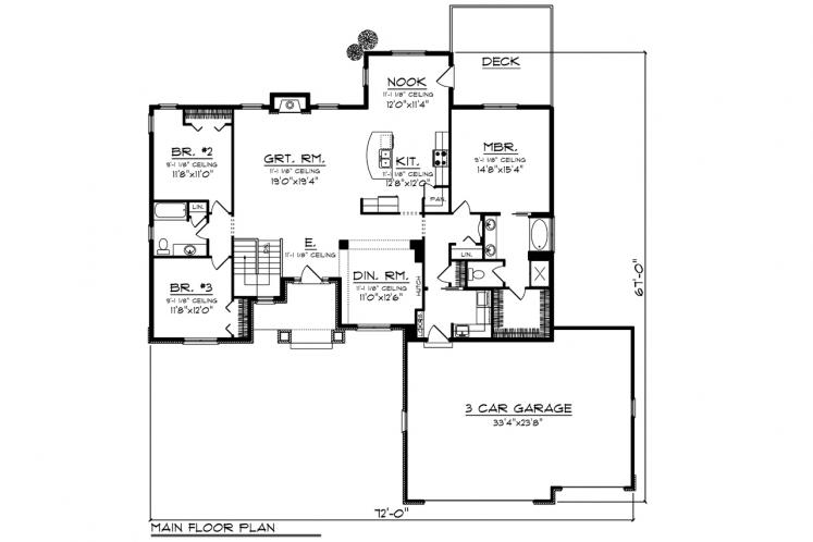 Southern House Plan -  80583 - 1st Floor Plan
