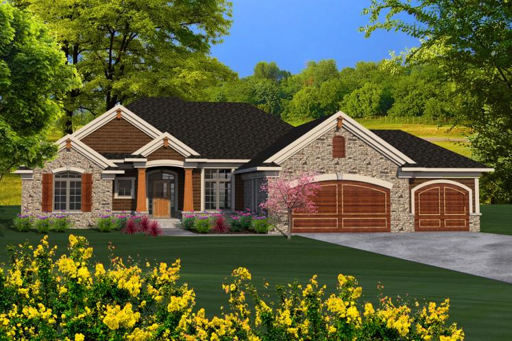 Craftsman House Plan -  80583 - Front Exterior