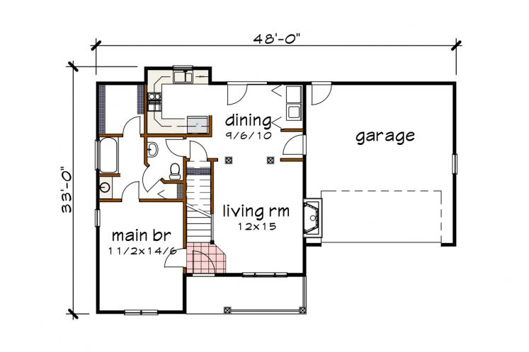 Country House Plan -  80623 - 1st Floor Plan