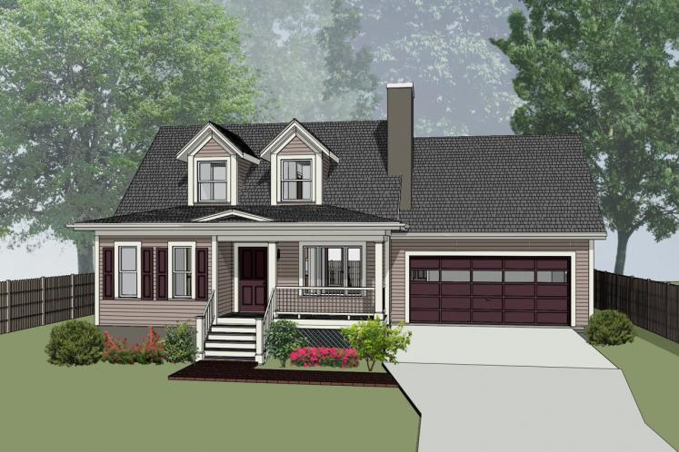 Country House Plan -  80623 - Front Exterior