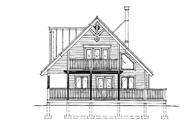 Craftsman House Plan -  80651 - Rear Exterior