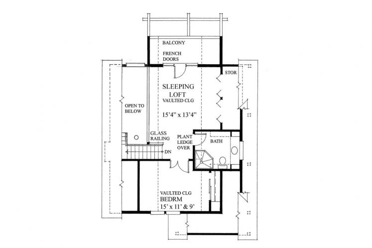 Cottage House Plan -  80651 - 2nd Floor Plan