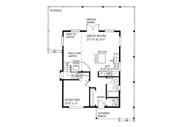 Craftsman House Plan -  80651 - 1st Floor Plan