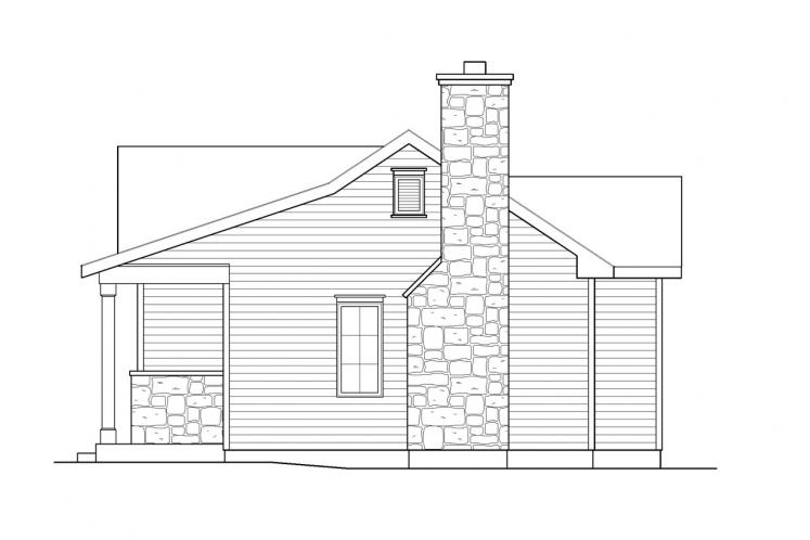 Bungalow House Plan -  80802 - Right Exterior