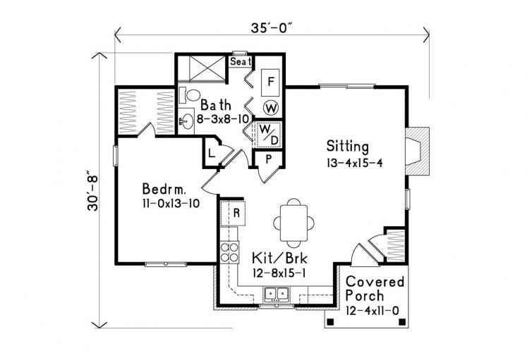 Traditional House Plan -  80802 - 1st Floor Plan