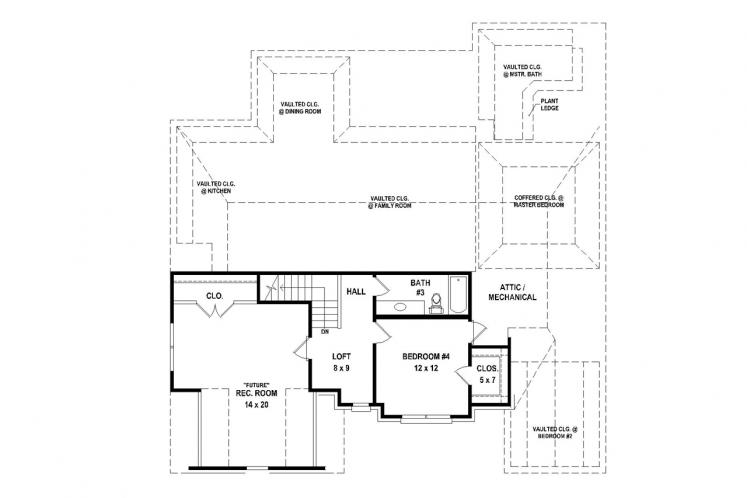 Traditional House Plan -  81014 - 2nd Floor Plan