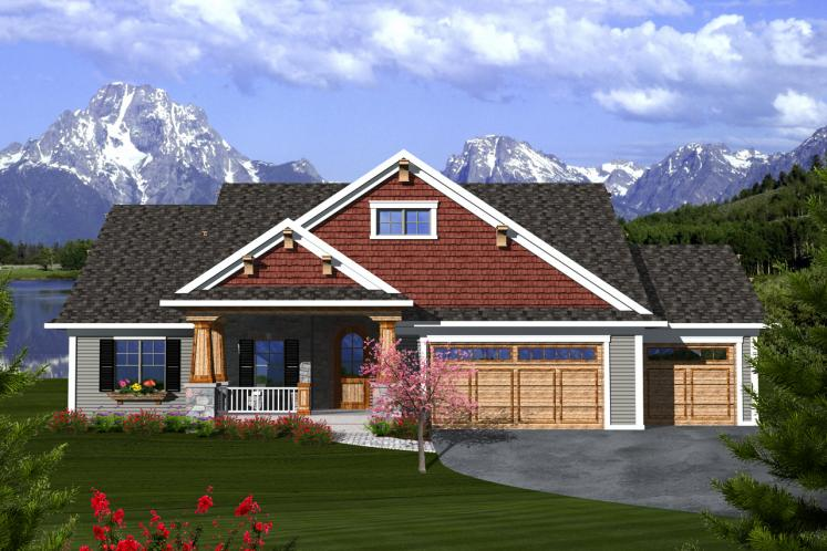Craftsman House Plan -  81023 - Front Exterior