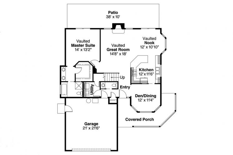 Country House Plan - Susanville 81127 - 1st Floor Plan