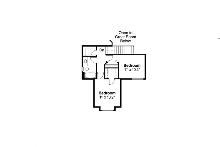 Traditional House Plan - Susanville 81127 - 2nd Floor Plan