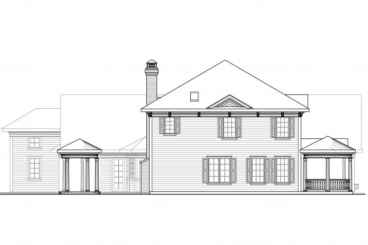 Colonial House Plan - Randell 81164 - Left Exterior
