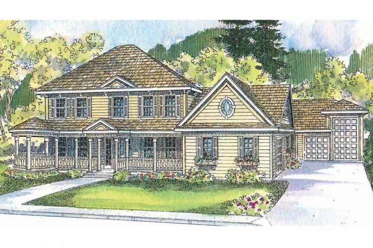 Colonial House Plan - Randell 81164 - Front Exterior
