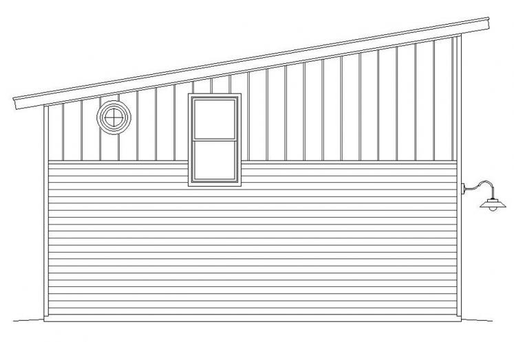Contemporary Garage Plan - Medicine Hat 81218 - Left Exterior