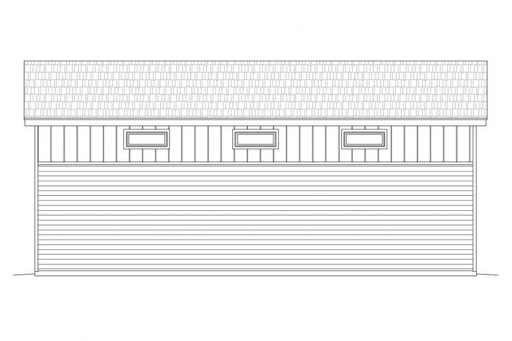Modern Garage Plan - Medicine Hat 81218 - Rear Exterior