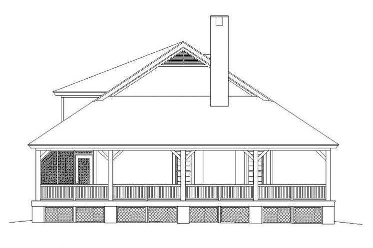 Lodge Style House Plan -  81334 - Left Exterior