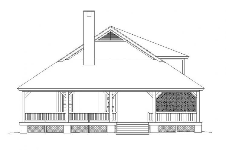 Country House Plan -  81334 - Right Exterior