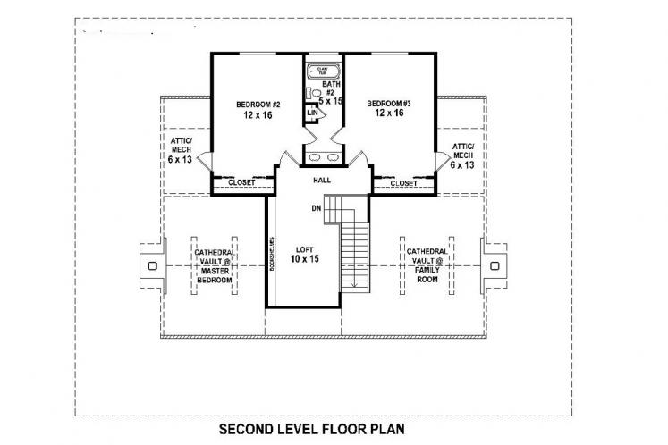 Lodge Style House Plan -  81334 - 2nd Floor Plan