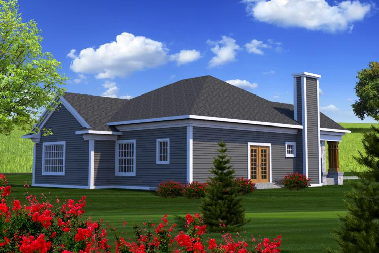 Classic House Plan -  81351 - Rear Exterior
