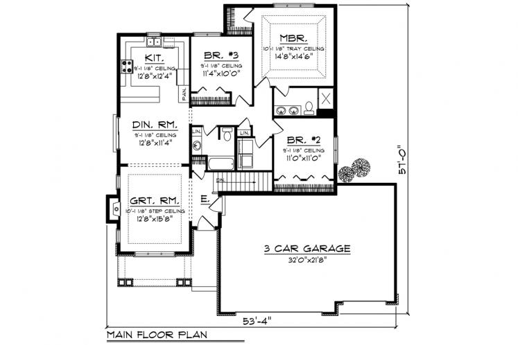 Craftsman House Plan -  81351 - 1st Floor Plan