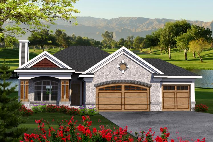 Ranch House Plan -  81351 - Front Exterior