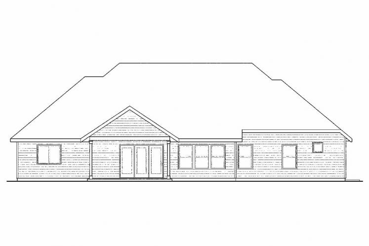 Country House Plan - Gladstone 81395 - Rear Exterior