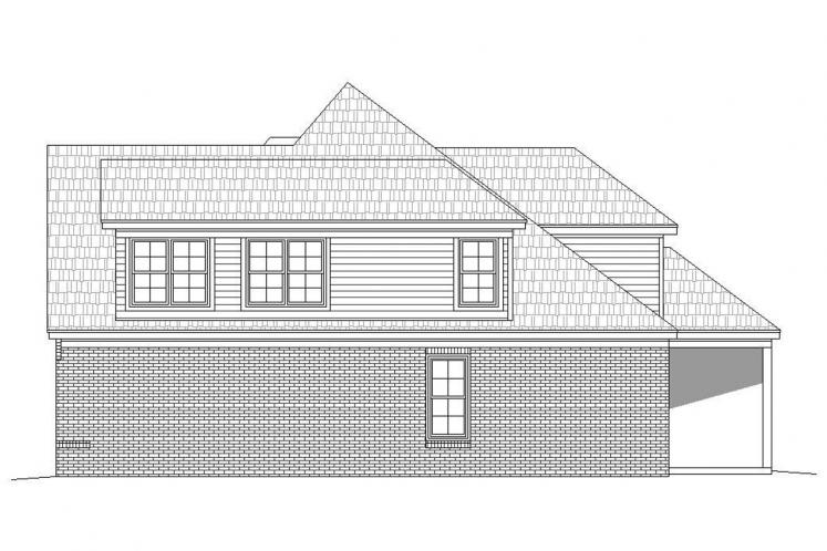 Ranch House Plan -  81504 - Right Exterior