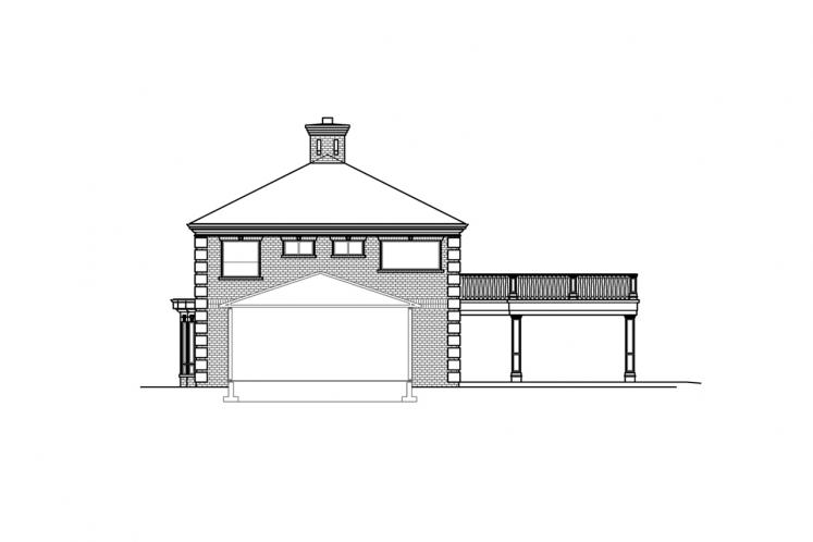 Southern House Plan - Westchester 81629 - Left Exterior