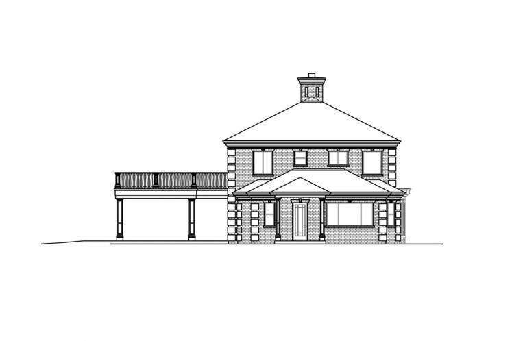 Colonial House Plan - Westchester 81629 - Right Exterior