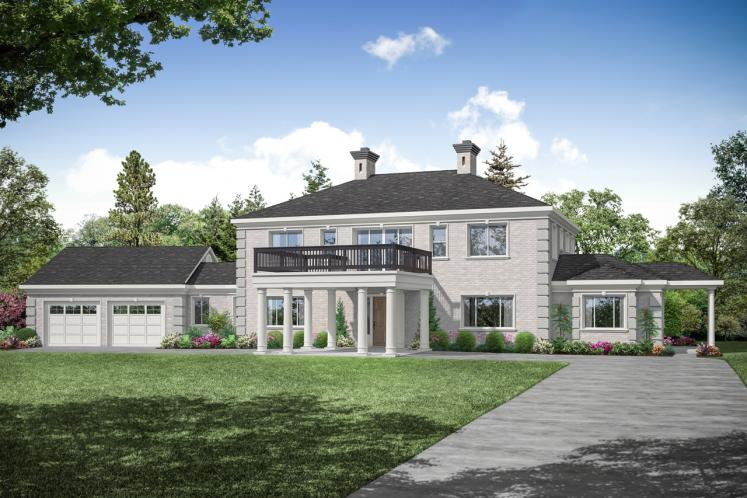 Colonial House Plan - Westchester 81629 - Front Exterior