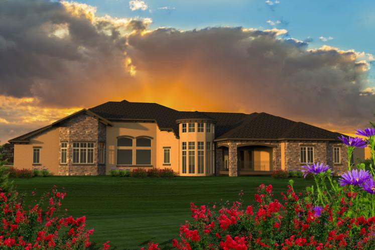 Ranch House Plan -  81727 - Rear Exterior