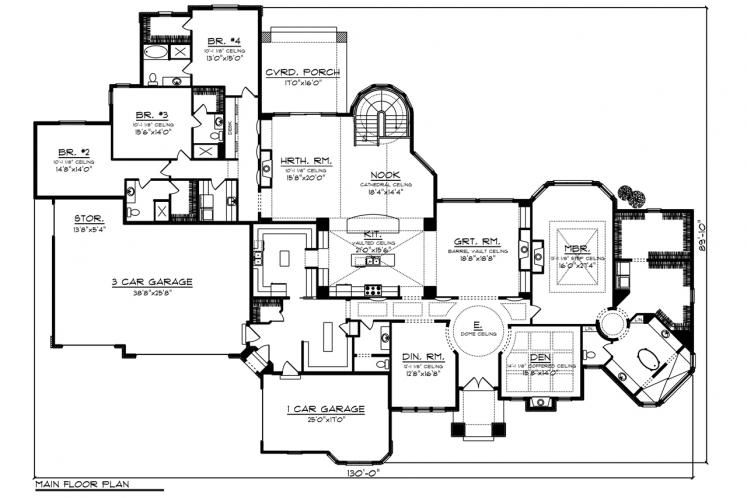 Mediterranean House Plan -  81727 - 1st Floor Plan